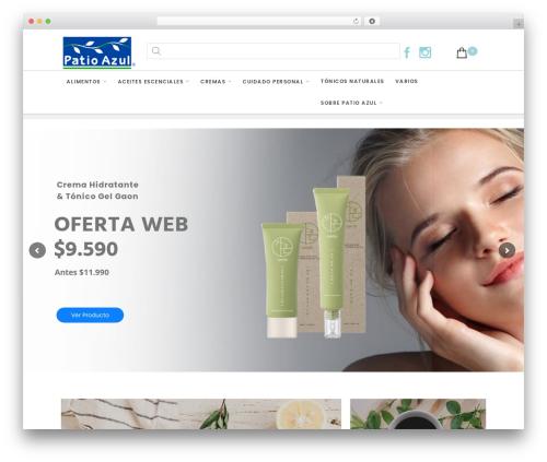 Salient template WordPress - patioazul.cl