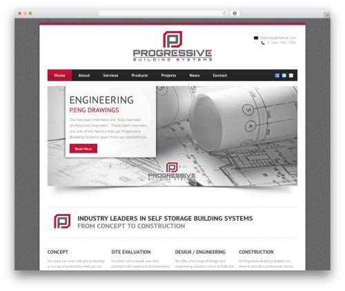 Theme WordPress Blue Diamond - progressivebuildingsystems.com