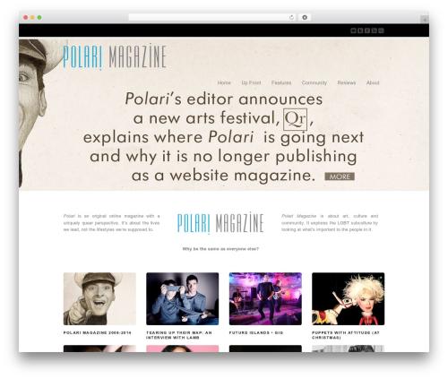 WordPress theme Corona - polarimagazine.com