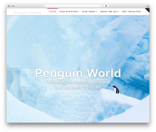 WordPress theme X - penguinworld.net