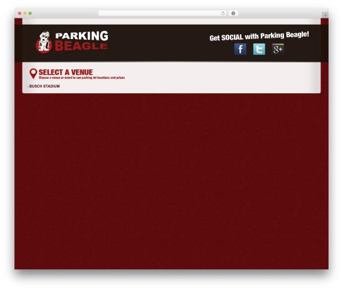 BLANK Theme WordPress page template - parkingbeagle.com