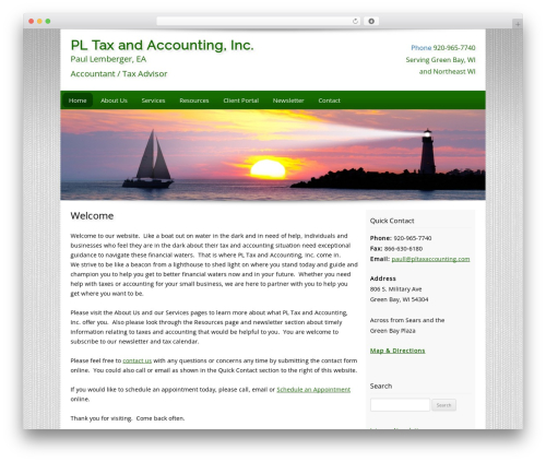 Customized WordPress page template - pltaxaccounting.com