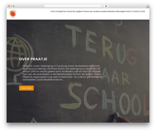 Education Base WordPress theme design - praatje.fr