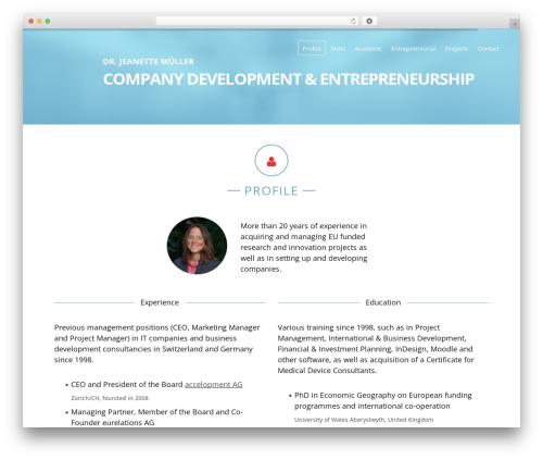 identity-vcard premium WordPress theme by ProfTeam - page 5