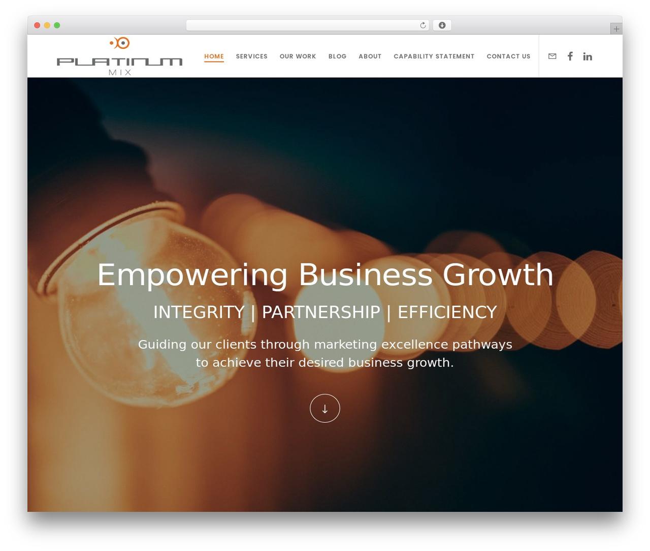 Movedo WordPress template for business - platinummix.com.au