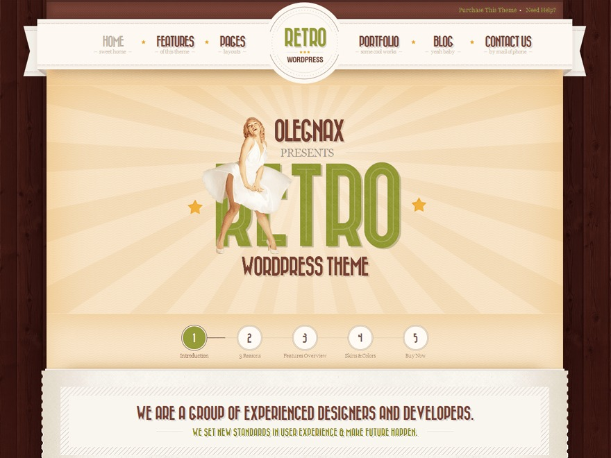 Retro - Premium Vintage WordPress Theme WordPress template by olegnax