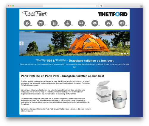 Template WordPress Thetford Porta Potti - portapotti.be