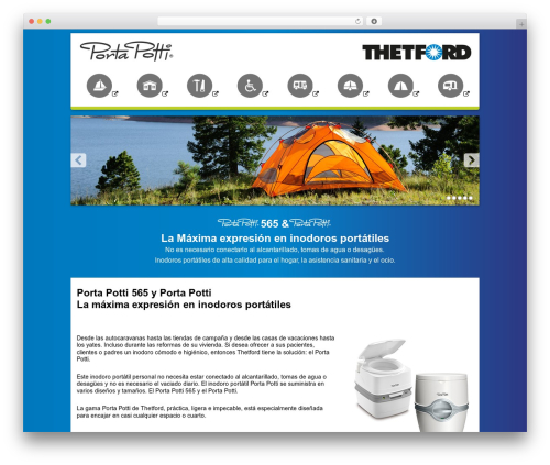 Theme WordPress Thetford Porta Potti - portapotti.es