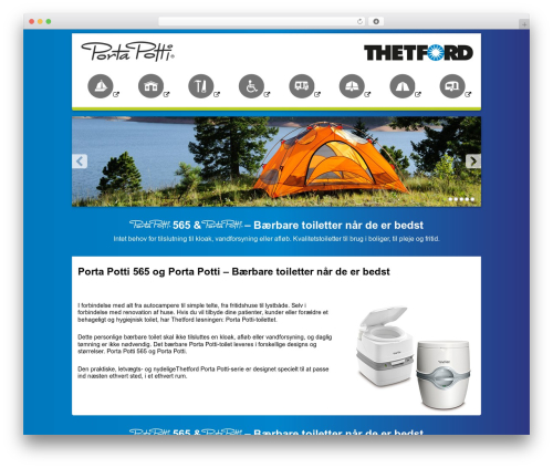 Thetford Porta Potti theme WordPress - portapotti.dk