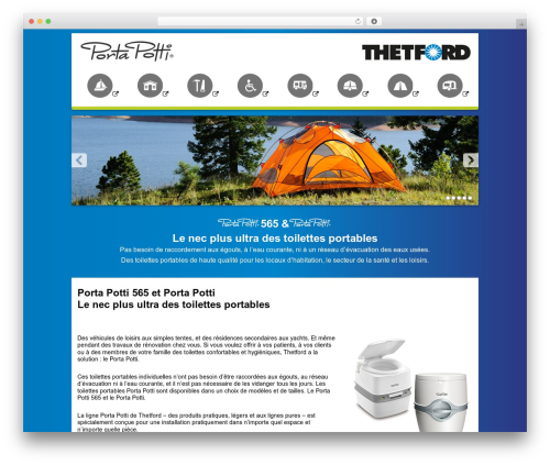 Thetford Porta Potti WordPress theme - portapotti.fr