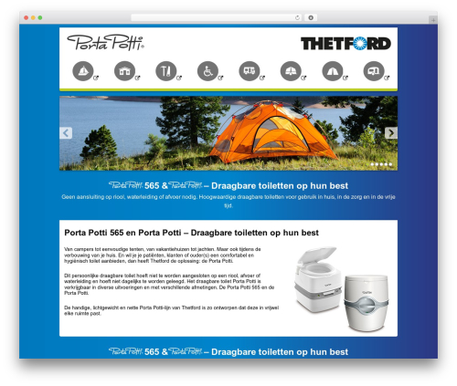 Thetford Porta Potti WordPress theme - portapotti.nl
