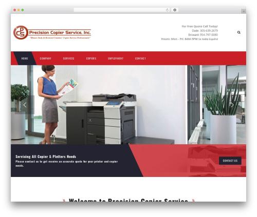 TM Transport WordPress website template - precisioncopier.com