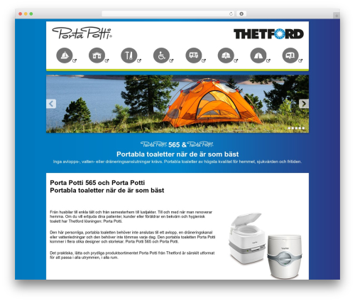 WordPress theme Thetford Porta Potti - portapotti.se