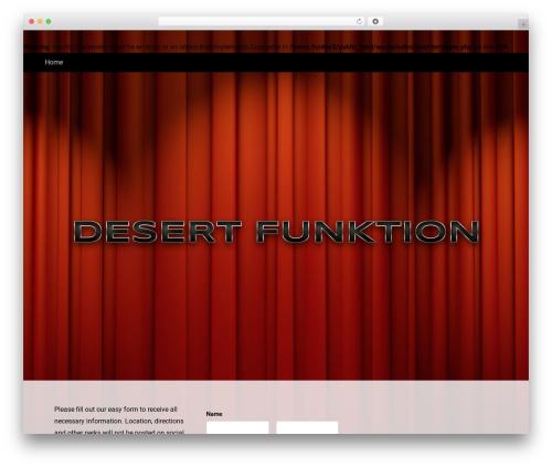 Altra Blueprint WordPress website template - funktevents.com