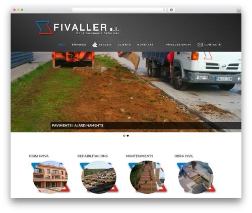 Best WordPress template Encase - fivaller.com