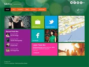 Best WordPress template Metro