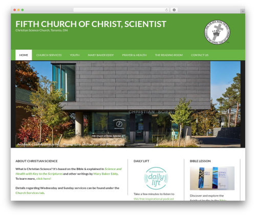 Best WordPress theme Outreach Pro - fifthchurchtoronto.com