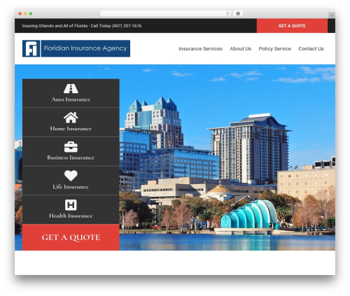 BrightFire Stellar template WordPress - floridianinsurance.com