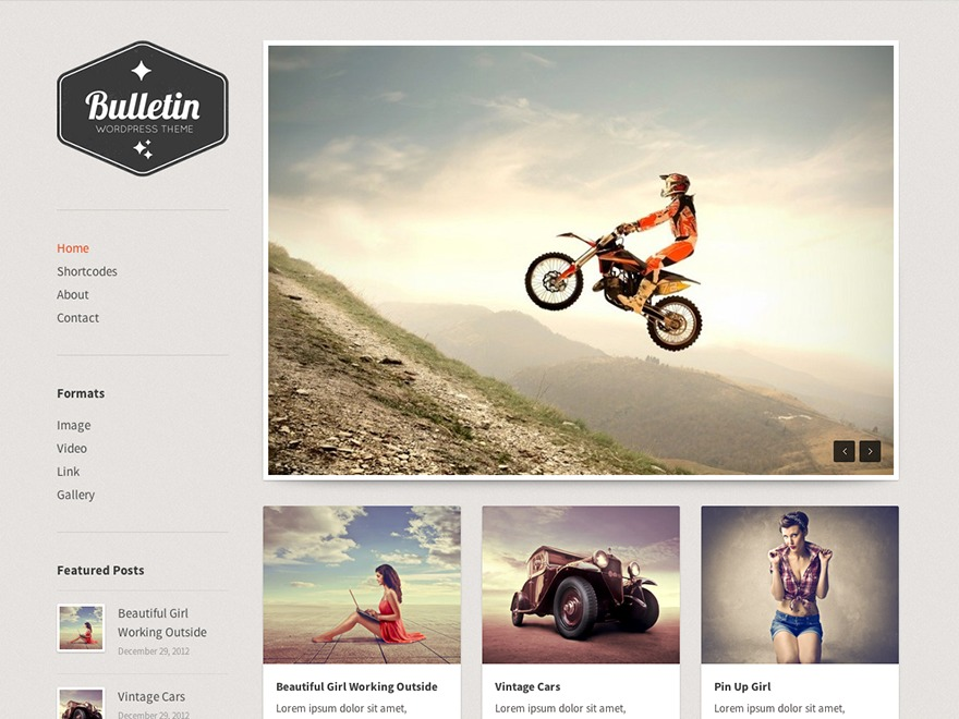 Bulletin premium WordPress theme
