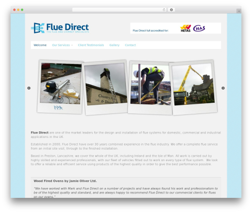 Canvas theme WordPress - fluedirect.com
