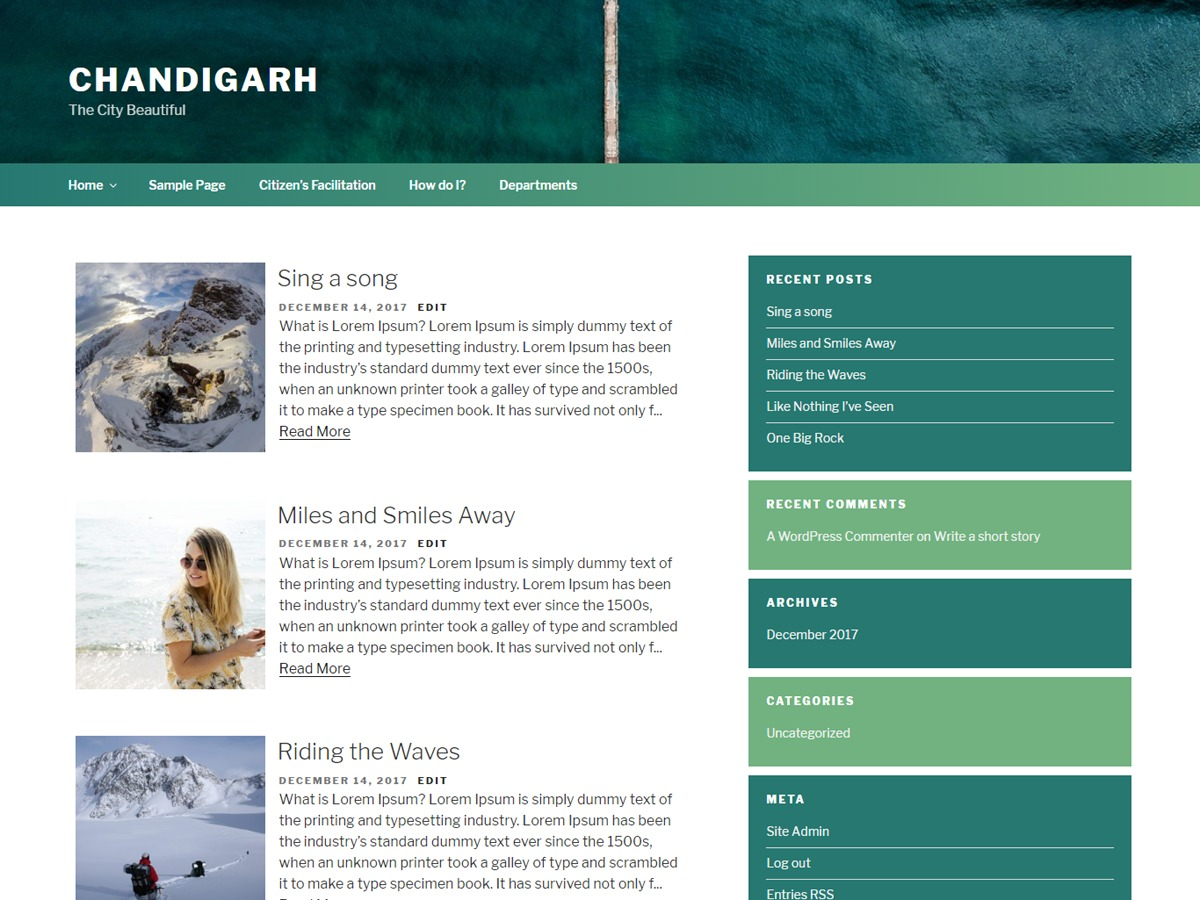Chandigarh WordPress theme download