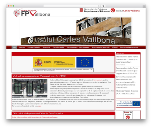 Coller WordPress theme design - fpvallbona.iescarlesvallbona.cat