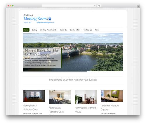 Free WordPress WP Header image slider and carousel plugin - findmeameetingroom.co.uk