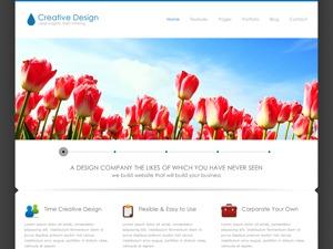 Creative Design WordPress portfolio template