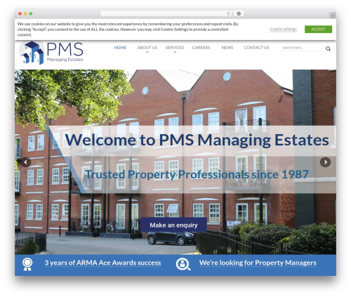 Desirable business WordPress theme - flatmanagers.co.uk