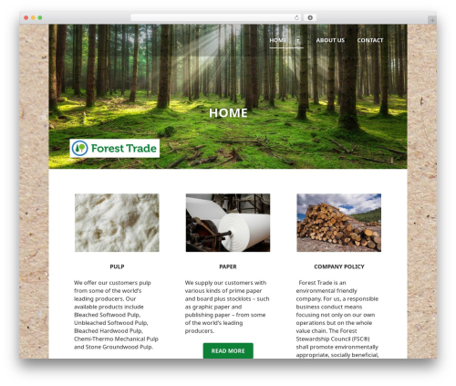 Edin free WordPress theme - foresttrade.se