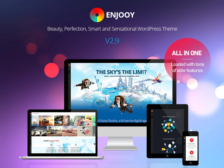 Enjooy - Child personal blog WordPress theme