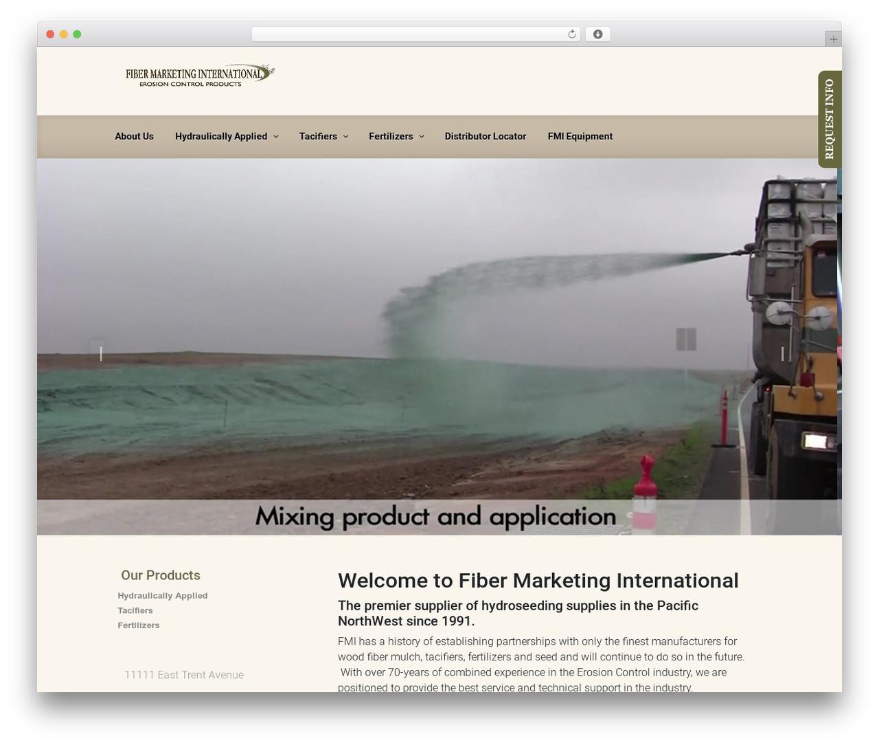 evolve WordPress template - fibermarketing.com