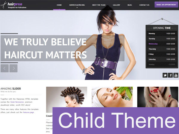Hairpress Child WordPress template