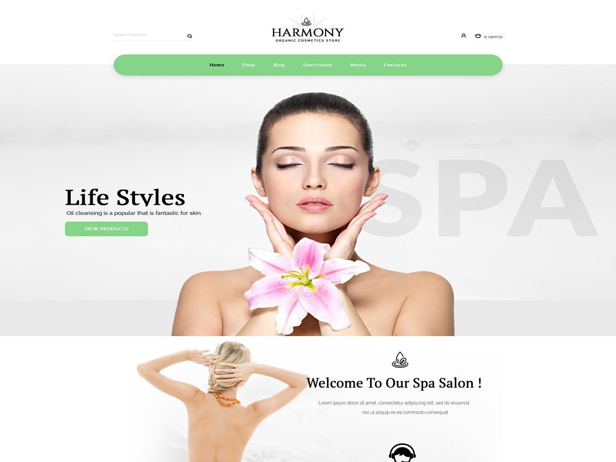 Harmonystore_green WordPress store theme