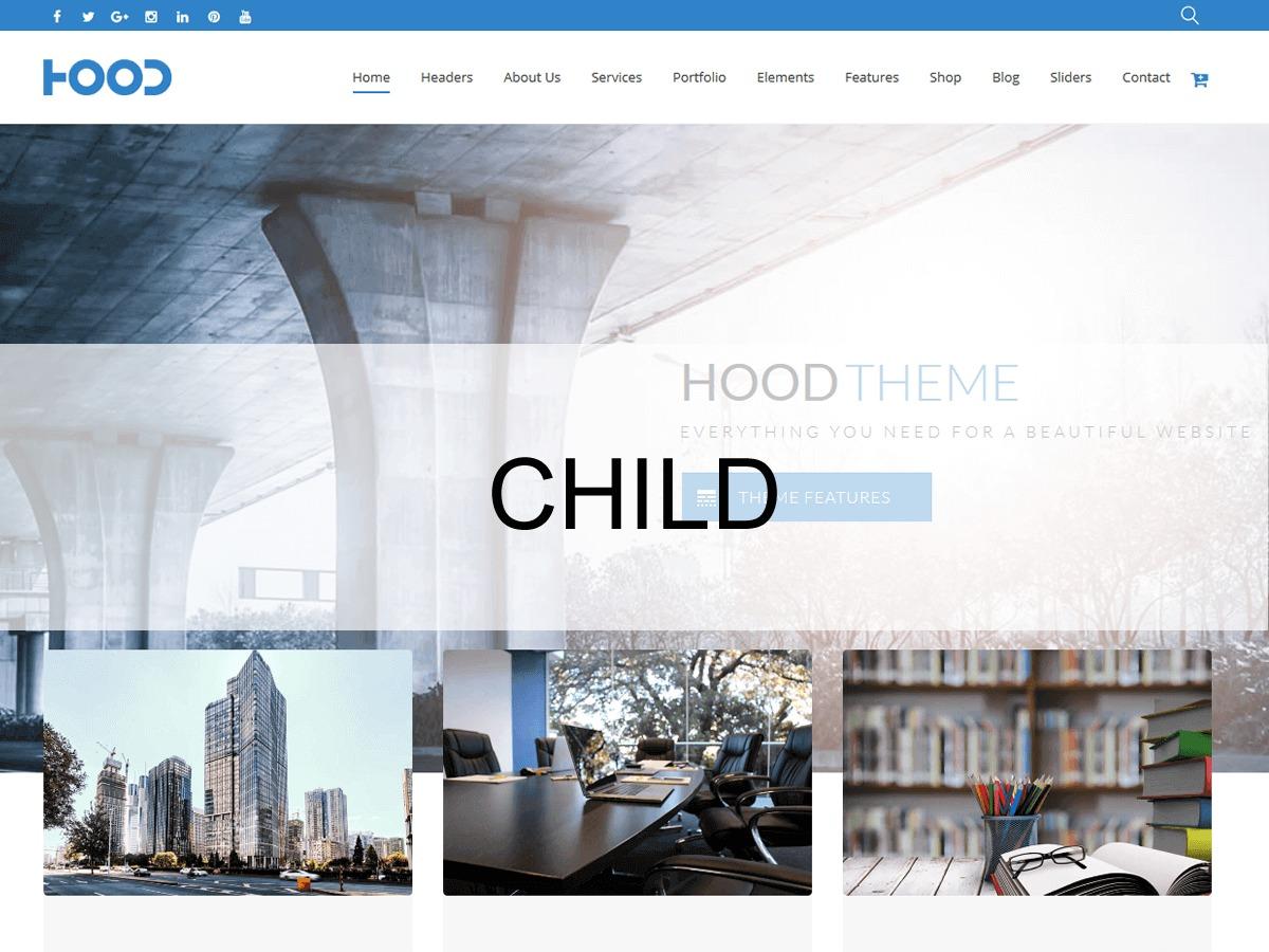 Hood Theme Child WordPress page template