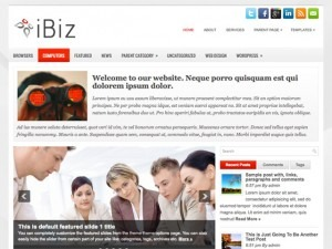 iBiz free WordPress theme
