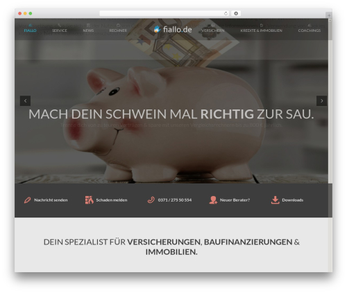 Inspirado theme WordPress - fiallo.de