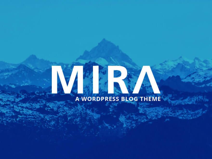 Mira WordPress blog theme