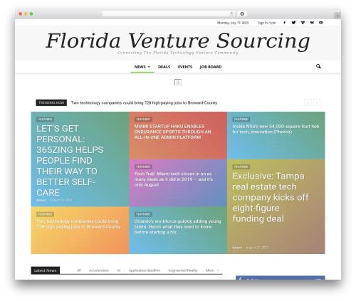 Newspaper template WordPress - floridaventuresourcing.com