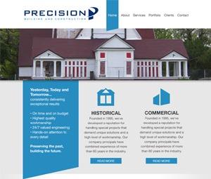 Precision WordPress website template