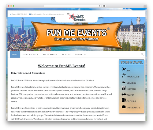 PremierPro theme WordPress - funmeevents.com