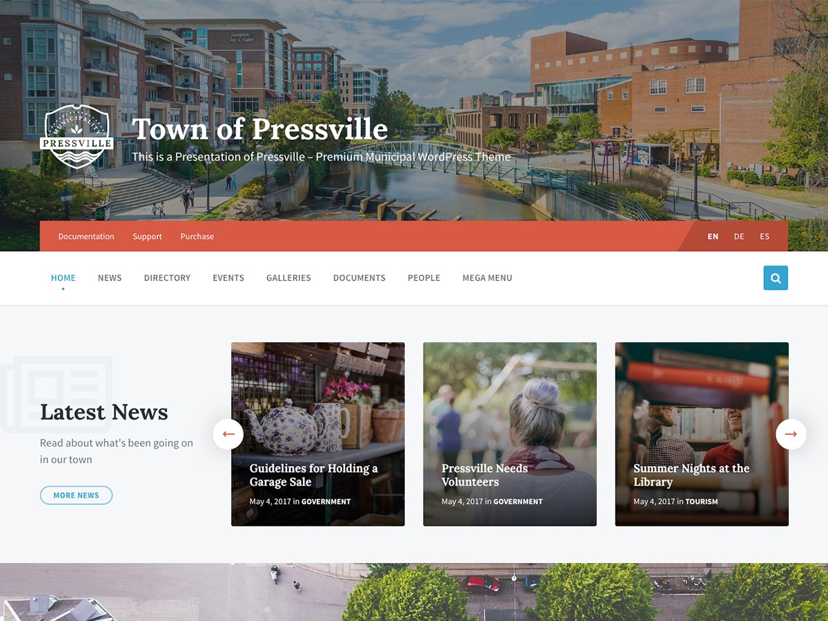 Pressville WordPress theme