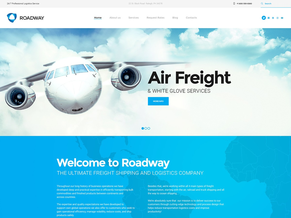Roadway theme WordPress