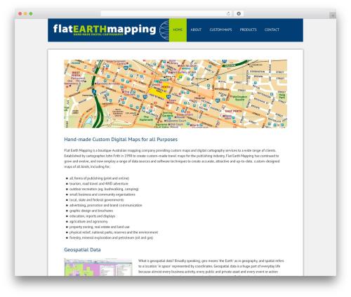 Smart Theme WordPress template - flatearthmapping.com.au