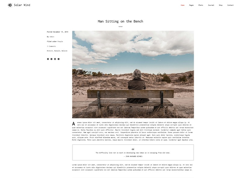 SolarWind WordPress template