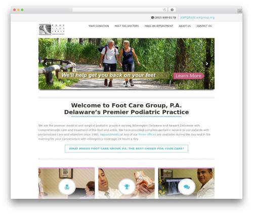 Soulmedic medical WordPress theme - footcaregroup.org