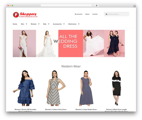 Storefront best WooCommerce theme - fshoppers.com
