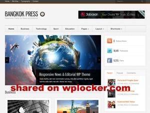 Template WordPress Bangkok Press (shared on wplocker.com)