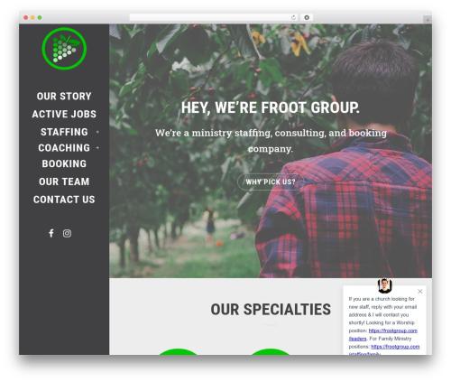 Theme WordPress Bridge - frootgroup.com