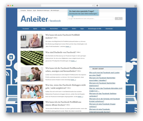 Theme WordPress deFacto - facebook.anleiter.de